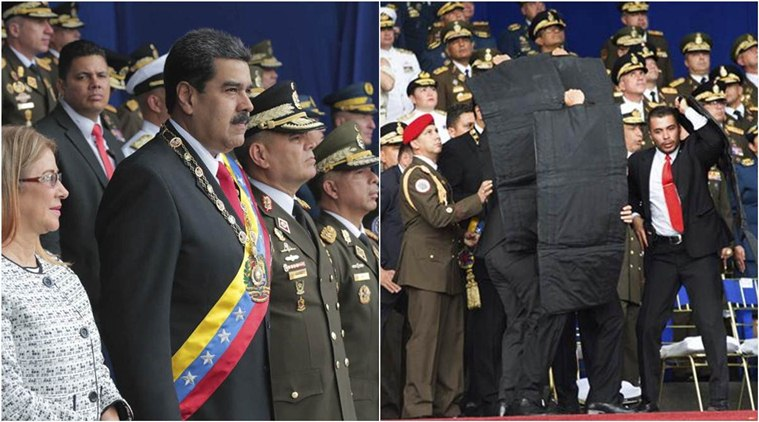 Maduro and his bodyguard response